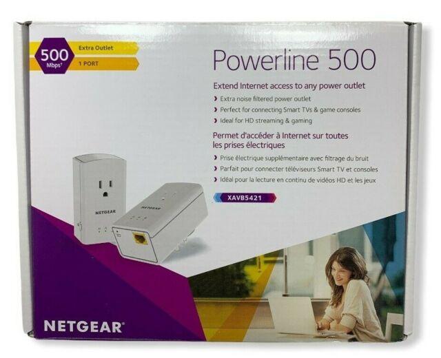 Netgear Powerline 500 Pass Thru 500 Mbps Xavb5421