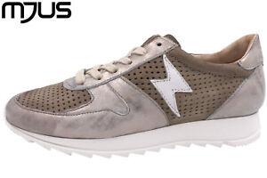 Taupe Schuhe Neu Echtleder Metallic Italienische Mjus Damen Sneaker wxPqC4gS