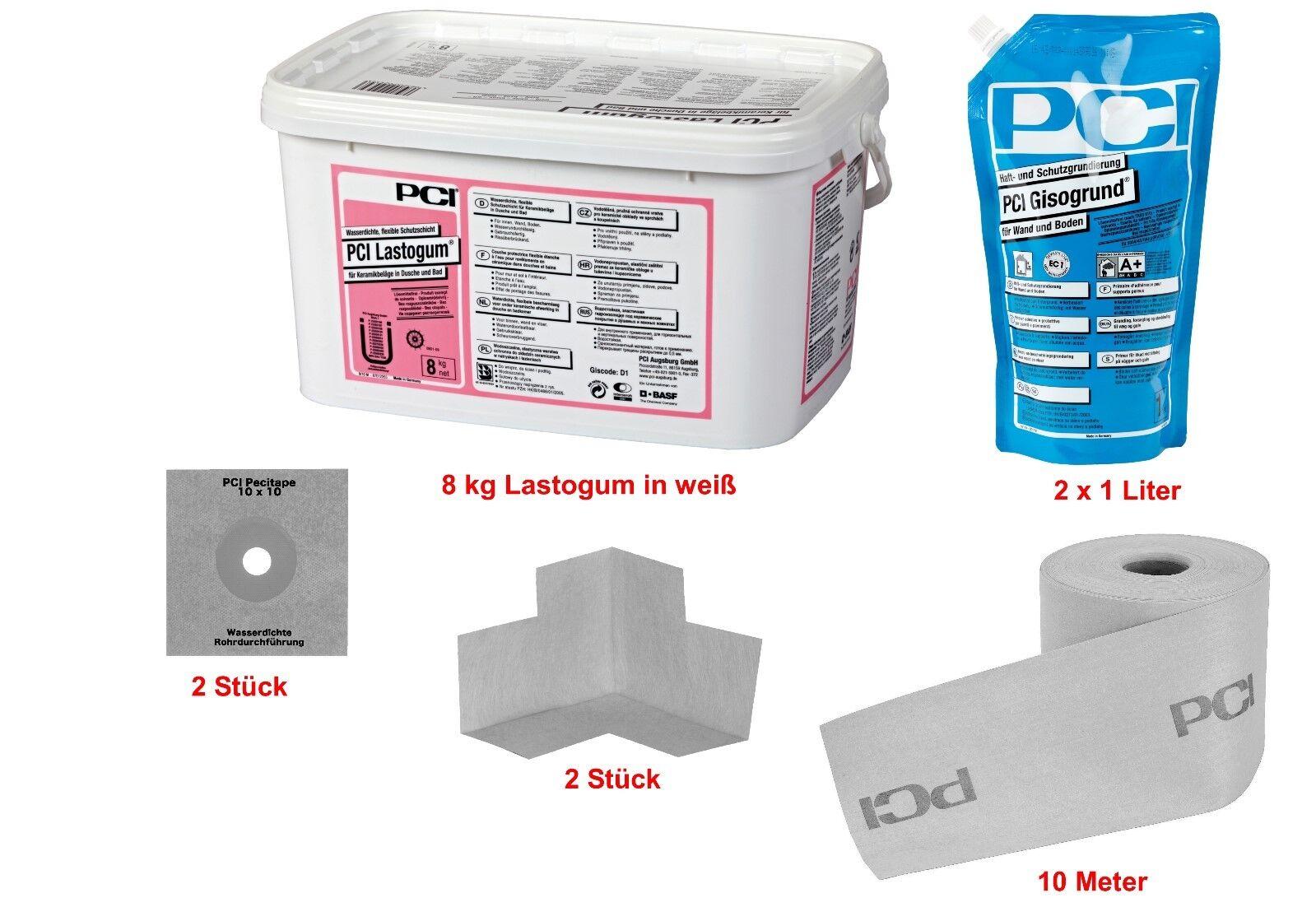 PCI Lastogum-Dichtset 8 kg weiß Abdichtungssystem in Bad & Dusche unter Fliesen
