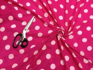 *NEW*L//Weight Drapey Smooth Polyester Navy//White Polka Dot Print Fabric*FREE P/&P