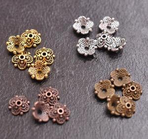 100Pcs-8mm-Flower-Bead-Caps-Floral-Spacer-Beads-8MM-DIY-Tibetan-Silver-Alloy