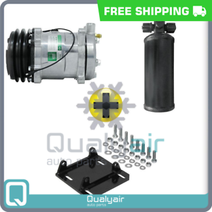 New-AC-Compressor-With-York-to-Sanden-Mount-And-Universal-Reciever-12V