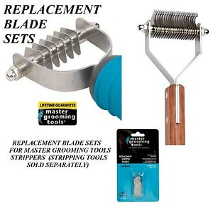 REPLACEMENT-BLADE-SETS-For-MASTER-GROOMING-TOOLS-Coat-Hair-STRIPPING-STRIPPER