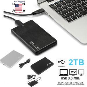 "2.5""2TB USB 3.0 Portable External Hard Drive Disk Ultra Slim For Laptop Desktop"