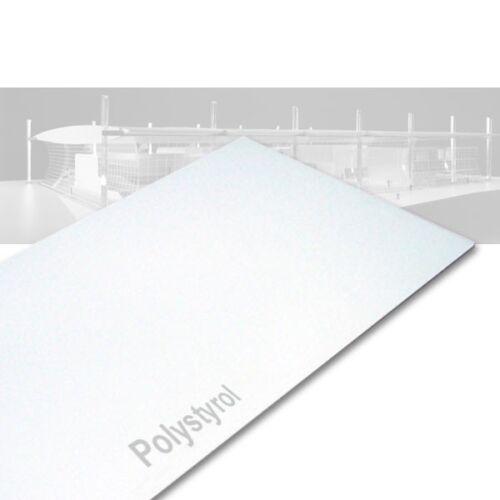 Polystyrolplatte weiß 1000 x 2000 x 1,0 mm Stärke Kunststoff Platte Plastik 1mm