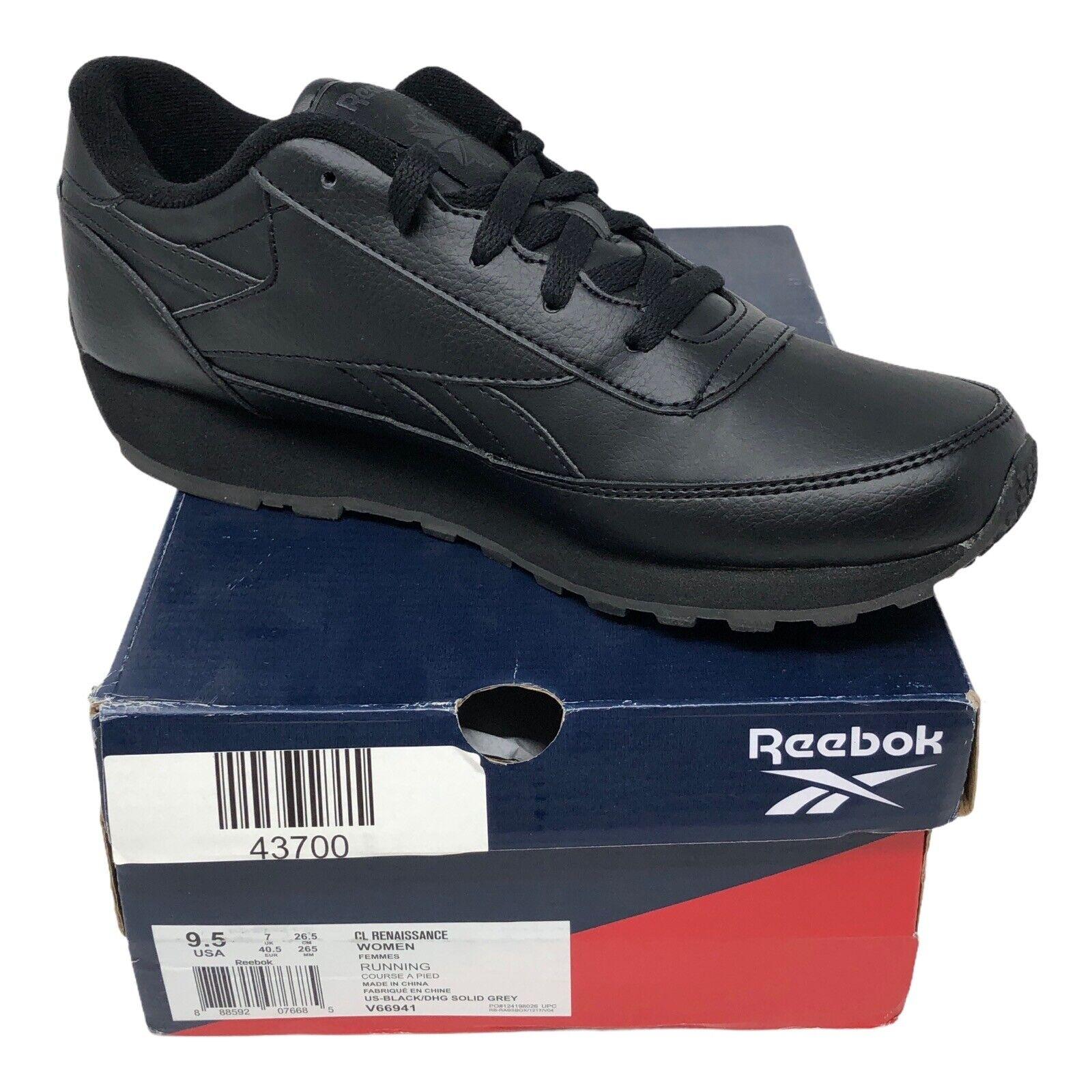 Reebok Women's Renaissance Running Shoe Black Size 9.5