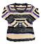 Bobbie-Brooks-Womens-Plus-Long-Sleeve-Scoop-Neck-Knit-Top-Sweater-Beige-Blue-2X thumbnail 3