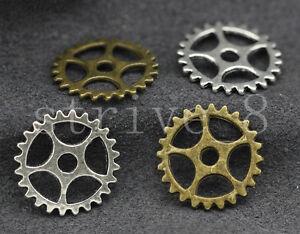 10 Key Charms Antique Bronze Tone Steampunk Pendants Miniatures 15mm