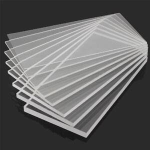 Clear Acrylic Sheet Plastic Panel Cut Multi Size 2 3 4 5 6 8 10mm Thick Ebay