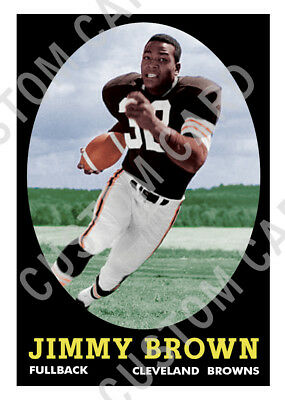 1958 Topps Style Jim Brown Custom Football Rookie Card Ebay