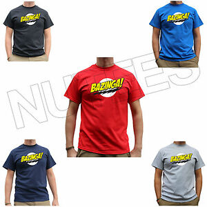 Bazinga The Big Bang Theory Sheldon Cooper Drôle Geek T-shirt Tailles S-xxl-afficher Le Titre D'origine
