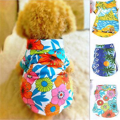 Summer Pet Dog Clothes Hawaiian T Shirt  Apparel Clothing Beachwear XS,S,M,L,XL