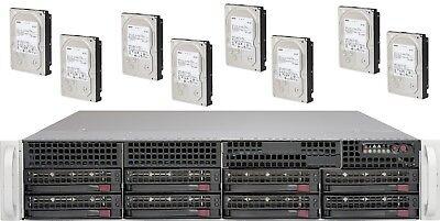 UXS Server 2U 8x NEW 4TB SATA Hard Drive FREENAS 11 2x E5-2630 V1 32GB DAS  ZFS | eBay