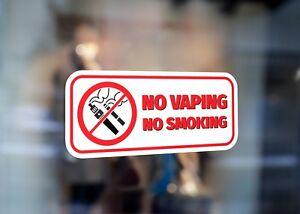 No Vaping Smoking Sign Large Self Adhesive Window Shop Sign 2821