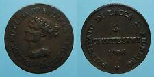 LUCCA e PIOMBINO RARO 3 CENTESIMI 1806 FIRENZE E. BONAPARTE e F. BACIOCCHI SPL
