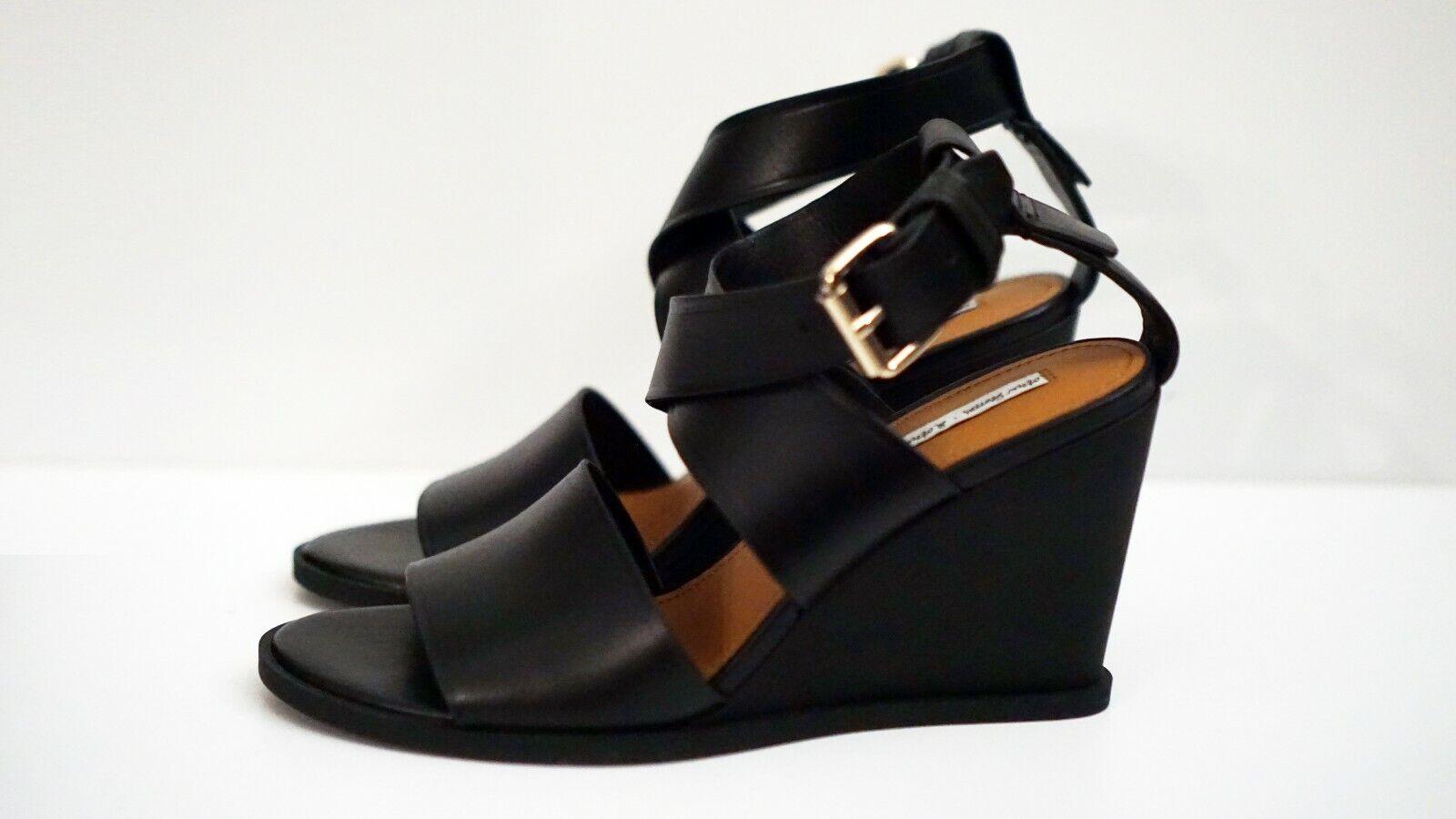 & OTHER STORIES en cuir noir compensé sandale 8