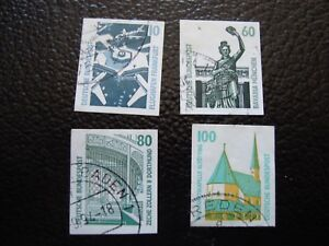 Germany-Rfa-Stamp-Yvert-and-Tellier-N-1383-A-1386-Obl-A3-A