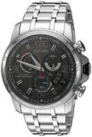 Citizen BY0100-51H Chrono-Time A-T Eco-Drive Grey Dial Stainless Steel Men's Watch