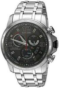 Citizen-Eco-Drive-Men-039-s-Atomic-Chronograph-Gray-Dial-44mm-Watch-BY0100-51H