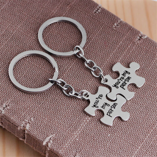 2pcs you are my person keychain letter puzzle key ring creative keyLD Ua