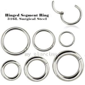 20G-18G-16G-14G-12G-10G-Steel-Seamless-Hinged-Segment-Ring-Hoop-Nose-Ear-Septum