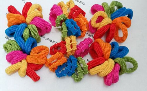24 pcs Kids fille Lady Élastique Cheveux en Caoutchouc Bandes Ponytail Holder Head rope ties