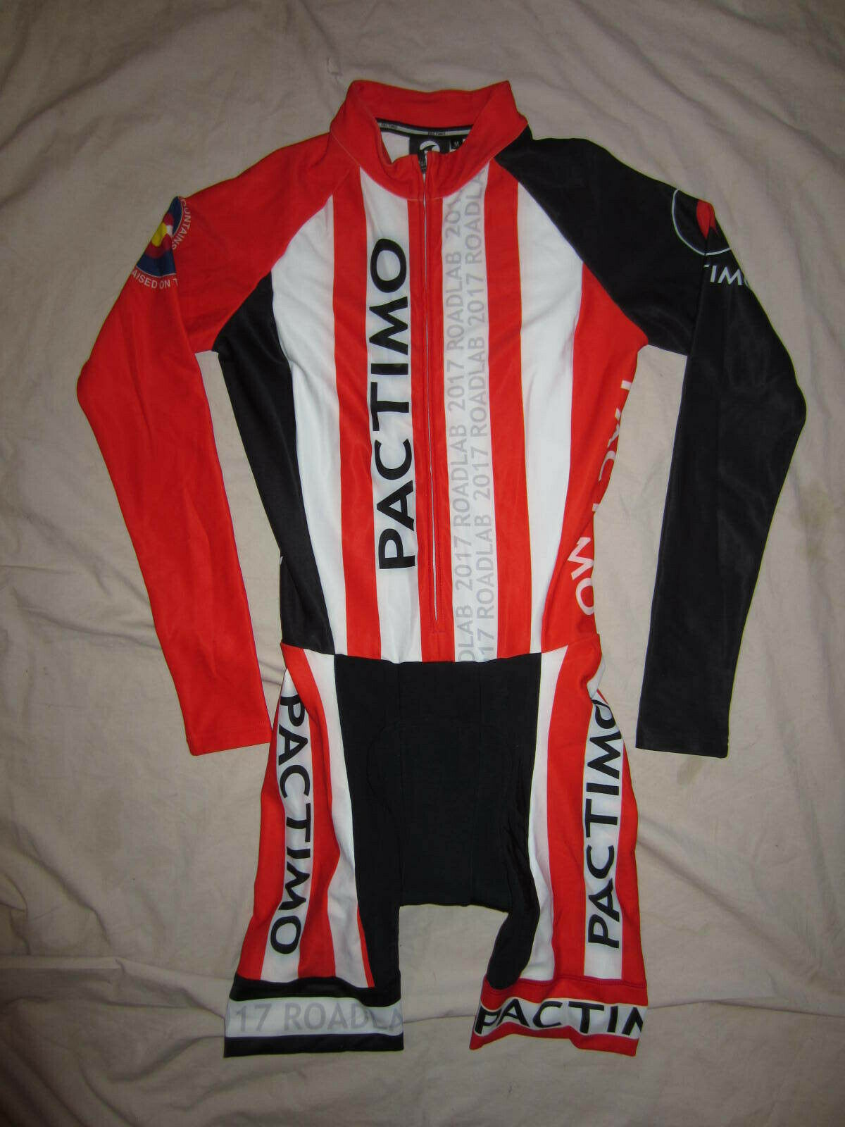 nuovo  Pactimo Thermal Cyclocross Skinsuit, lungo Sleeve, Fleece, M