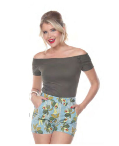 Delilah Shorts Avocados