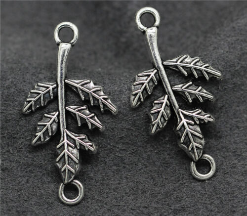 Tibetan Silver//Bronze Beautiful Leaf Foliage Jewelry Finding Charm DIY Pendant H
