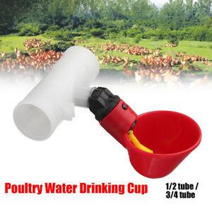 10PCS-Chicken-Brid-Hen-Water-Drinking-Cup-Auto-Poultry-Drinker-Feeder-Nipple-AU