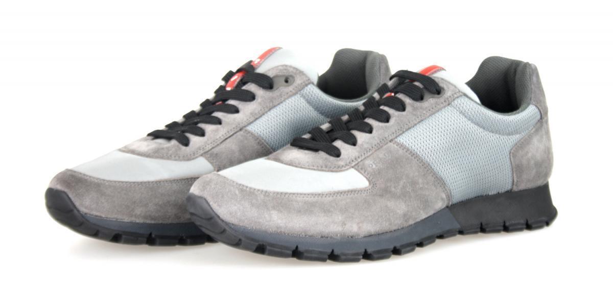 shoes PRADA LUXUEUX 4E2700 grey NOUVEAUX 9 43 43,5