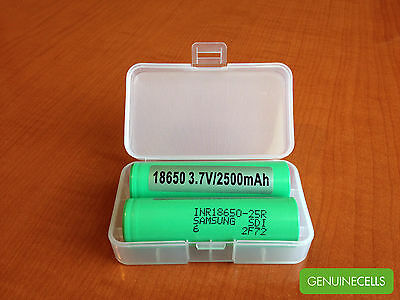 50x SAMSUNG INR18650-25R GREEN 2500mAh 20A HighDrain IMR Rechargeable Battery
