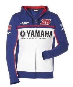 Red VR46 Vinales Yamaha Full Zip Motorbike Motorcycle Hoodie Blue Black