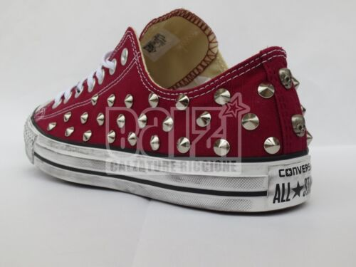 Hommes Studs Craft Ox Maroon Edge All Chaussures Skull Star Converse Femmes xC0Bw6qCT