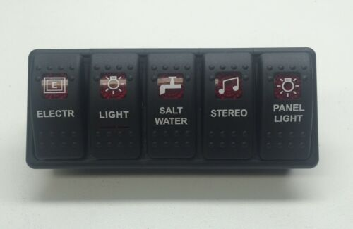 and 1 switch panel Marine Grade Bank Switch Panel 5 switches 5 Switch Covers