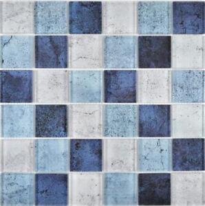 Détails sur Crystal Glasmosaik bleu gris Mur Cuisine Salle de bains  carrelage Miroir 88-0044_f 10 Tapis- afficher le titre d\'origine
