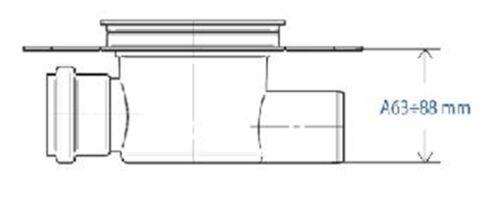 Duschablauf Badablauf Bodenablauf DN 50 in Edelstahl Orient 2
