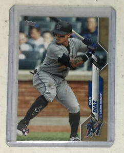 2020-Topps-Series-1-Isan-Diaz-Rookie-Gold-Foil-SP-2020-Miami-Marlins-RC-278