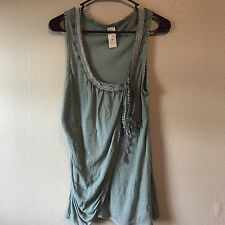 Women's Anthropologie C.Keer Green Valance Knit Top Size M