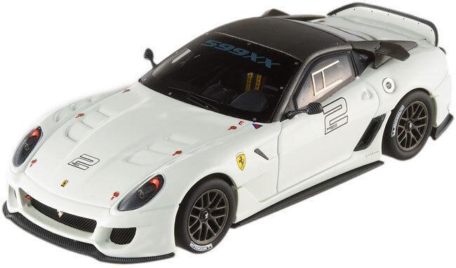 Hot Wheels Elite Ferrari 599XX white-grey T6265 1 43