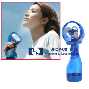 New Portable Hand held Cooling Cool Water Spray Misting Fan Mist Travel Beach /1419641