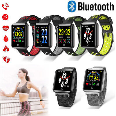 Bluetooth Smart Watch Heart Rate Monitor Pedometer for