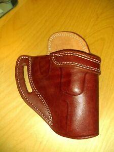 "Leather CROSS DRAW Holster - S&W J Frame / Ruger LCR / SP101 - 2"" barrel (#7700)"
