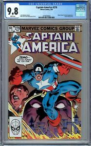 Captain America #278 CGC 9.8 (1983, Marvel) Baron Zemo II App. Mike Zeck Cover.