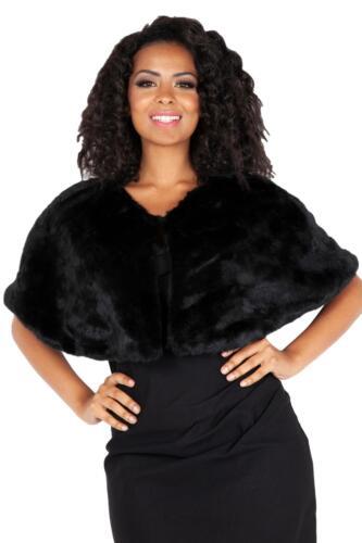 Voodoo Vixen 1920s Great Gatsby Party Elegant Faux Fur Shawl Wrap Cape Capelet