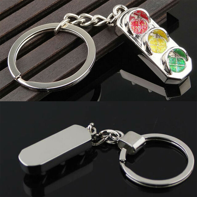 New Mini Traffic Light Car Key Ring Chain Classic 3D Keyfob Keychain Gift Newest