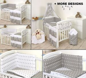 Details About Grey White Stars Baby Boy Bedding Set Cot Or Bed Size More Designs