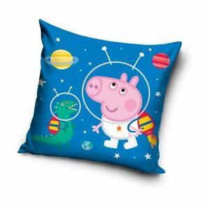 Peppa-Pig-George-Astronaute-Coussin-Zip-Closing-Bleu-Enfants