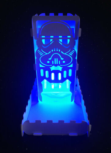 Dice Tower Stormtrooper With Tray and light up Tea Light Dice Roller