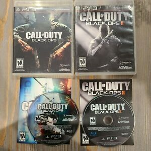 Lot-of-2-PS3-Playstation-3-Games-Call-of-Duty-Black-Ops-1-amp-2-CIB-Complete